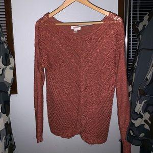 Women's copper/salmon color sweater